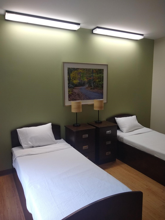 well decorated and comfortable client bedrooms at Anabranch Recovery Center - Terre Haute Drug and Alcohol Addiction Treatment Center and Detox Services