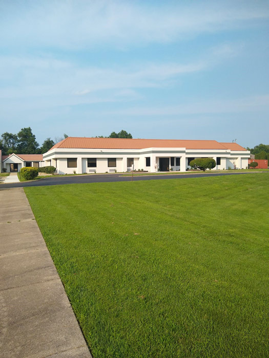 view of the building and grassy areas outside of Anabranch Recovery Center - Terre Haute Drug and Alcohol Addiction Treatment Center and Detox Services