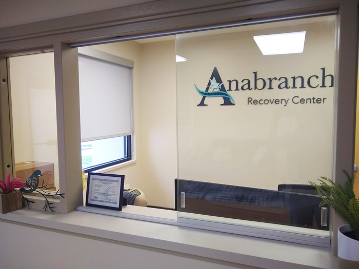 reception area in lobby of Anabranch Recovery Center - Terre Haute addiction treatment center