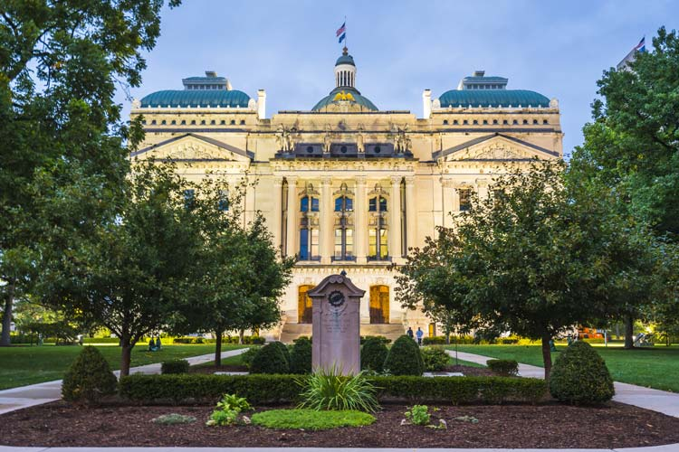 exterior of Indiana government building - drug use